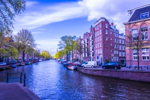 HDR picture of one of the Canals of Amsterdam.