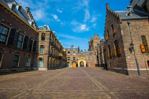 The beautiful Binnenhof building in The Hague, Holland.