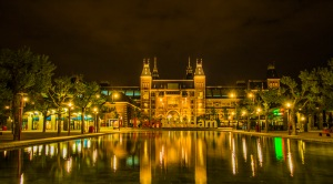 Rijks Museum at Night, Amsterdam